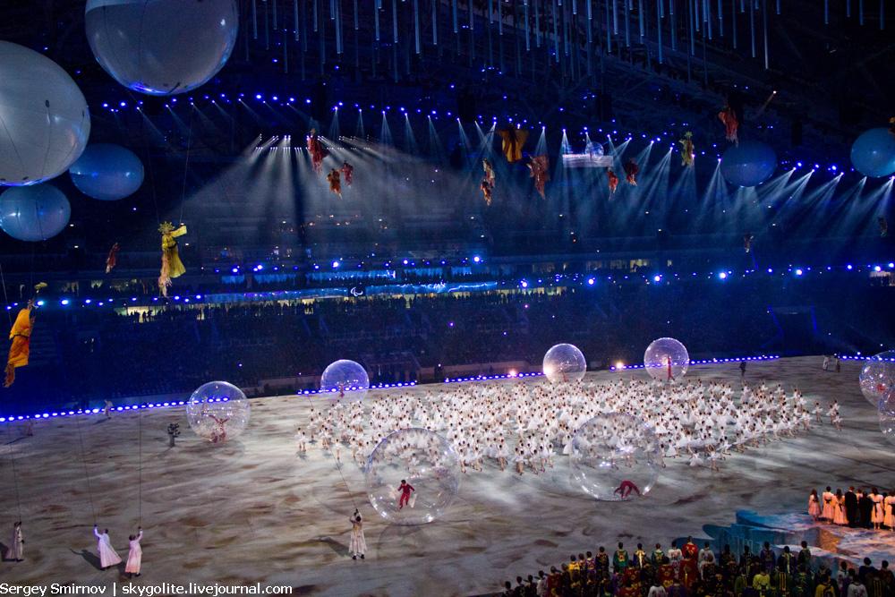 Церемония открытия паралимпийских зимних игр в Сочи