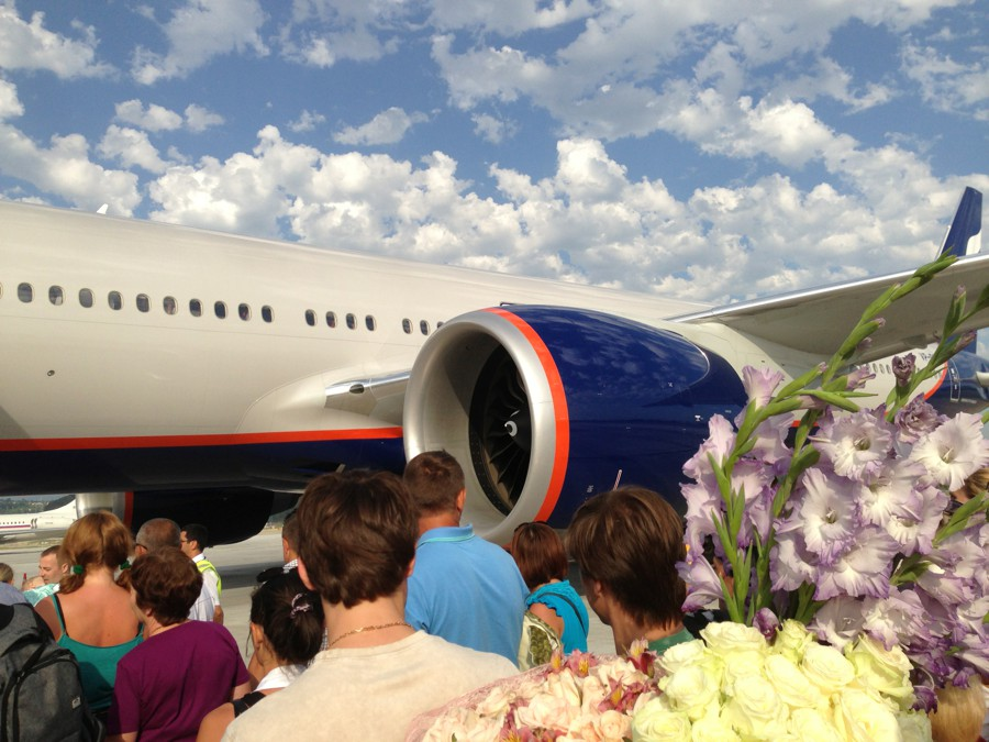 Из Сочи в Москву на Boeing-777