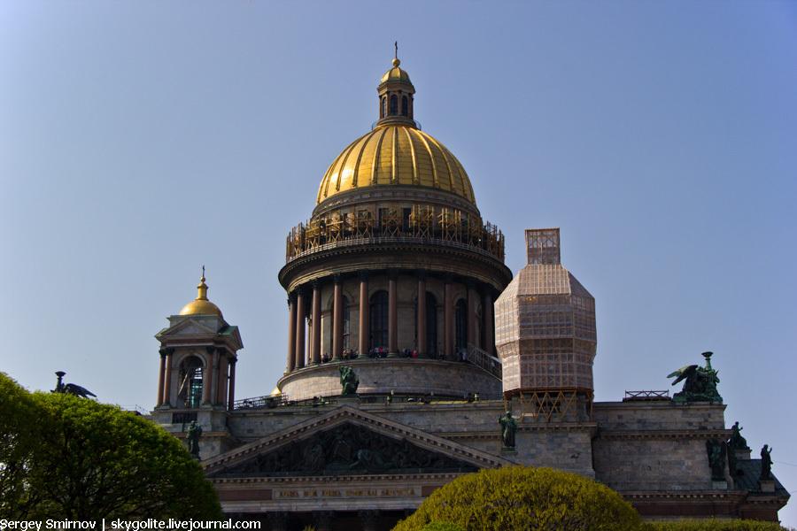 С колоннады Исакиевского собора