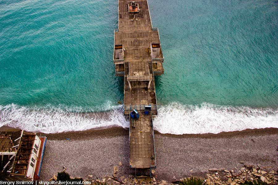 Один день в Абхазии. Гагра. Море.