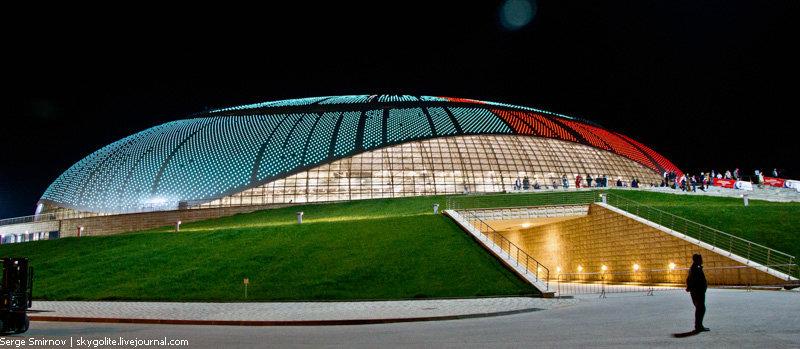 Кадры строящегося Олимпийского парка в Сочи