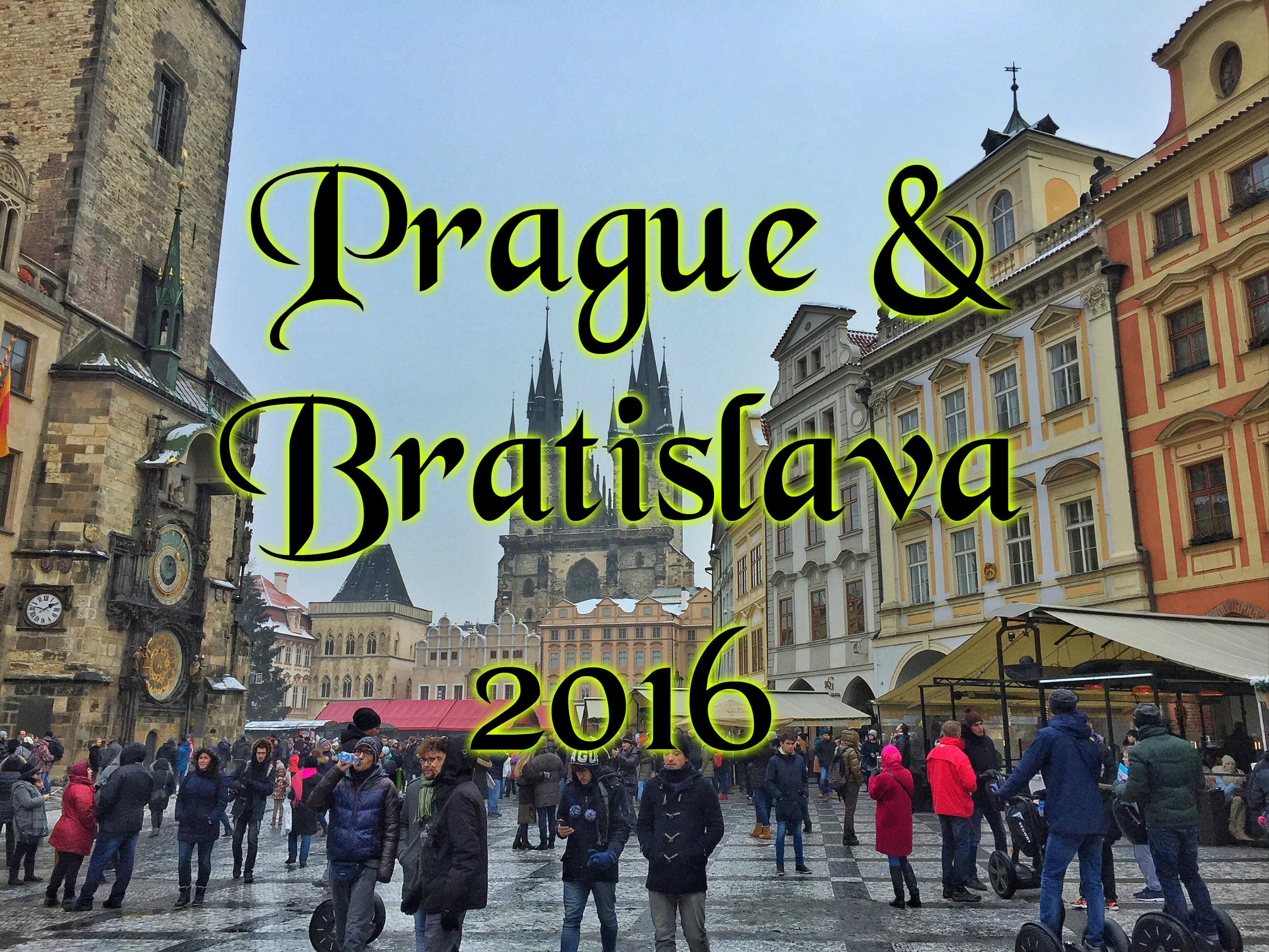 Видео: Зимние Прага и Братислава