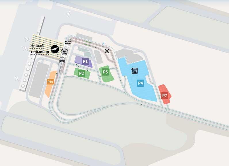 Парковки в пулково 1 новый терминал схема стоимость